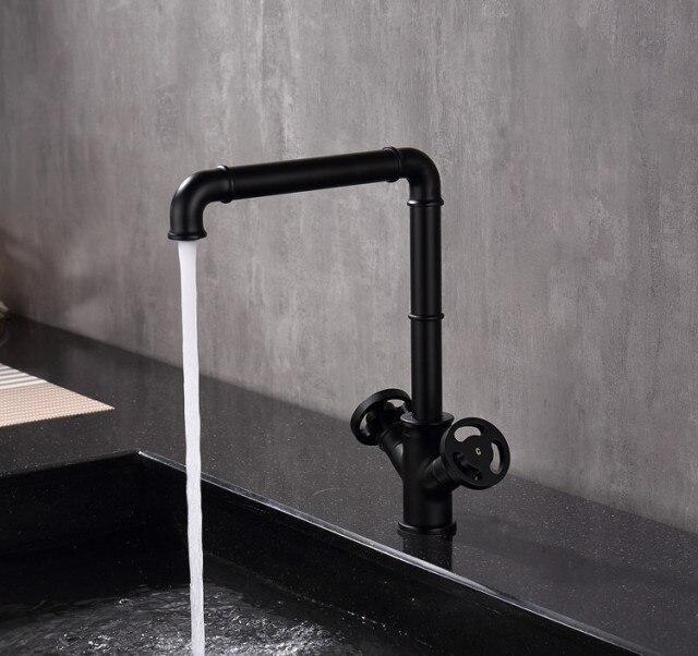 Retro Industrial Loft Style Kitchen Tap Faucet Modern In 2021 Kitchen Faucet Single Hole Kitchen Faucet Brass Kitchen Faucet