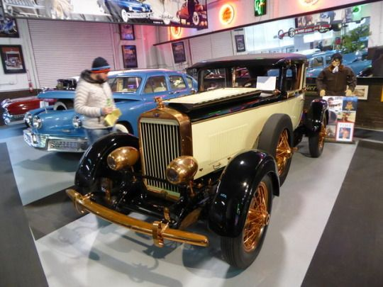 This is a 1926 Rickenbacker Eight Super Sport, Eddie Rickenbacker's personal car and the only survivor of it's type. Nickel plating was abundant on this example, which was on display at the 1926 New York Auto Show.
