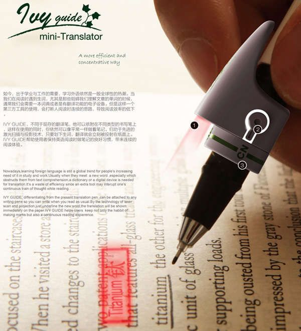 This Translator Pen Attaches to Any Pen and Translates Written Words
