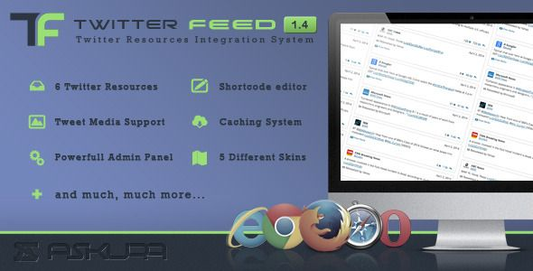 Download Twitter Feed v1.4 – Social plugin for WordPress