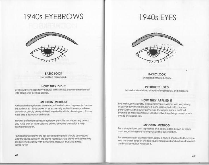 1940s Eyes and Brows.  Vintage Makeup Tutorial.