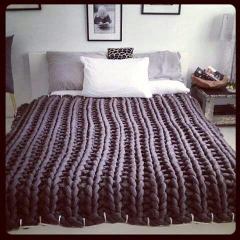 Maxi colcha de tricot, knit, malha, decoração cama