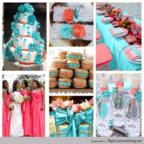 Peacolor Wedding Ideas: 4 Coral Wedding Color Combination Ideas Perfect For Summer