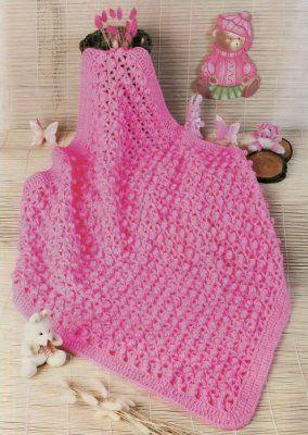 Crochet: coperta per il bambino (regimi di lavoro a maglia)