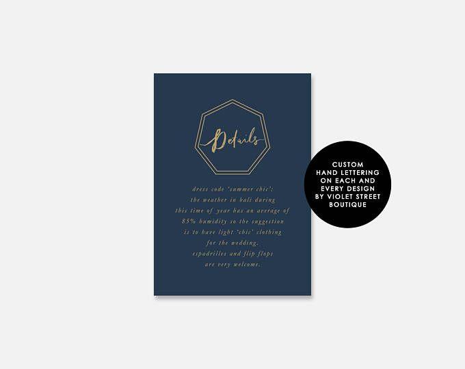 Printable Details Card, Printable Wedding Card, Custom Printable Wedding Card, Details Card, Wedding Details Card, Wedding Card, Details