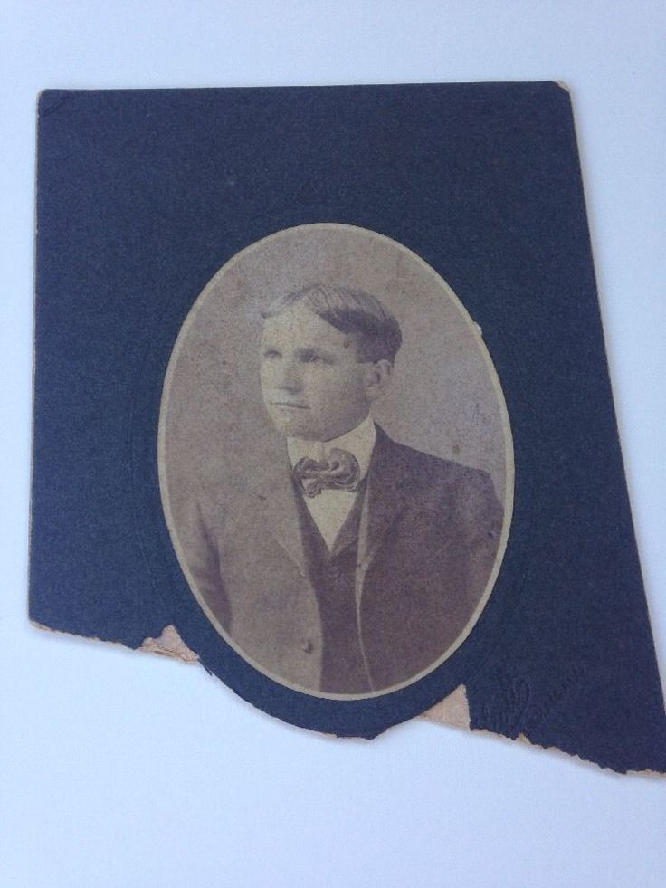 Antique Photo Cabinet Card Birmingham Alabama Young Man In Suit Late 1800s 1900s    eBay