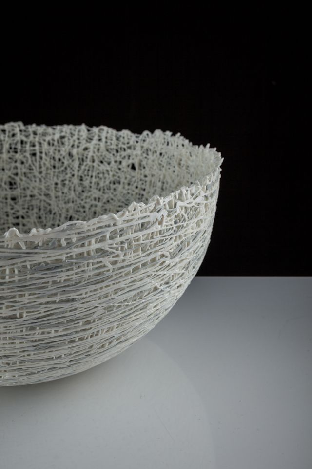 Sonja Brough working with dhab Design, Slip Range - Delicate vessels challenging the preconception of porcelain in contemporary society
