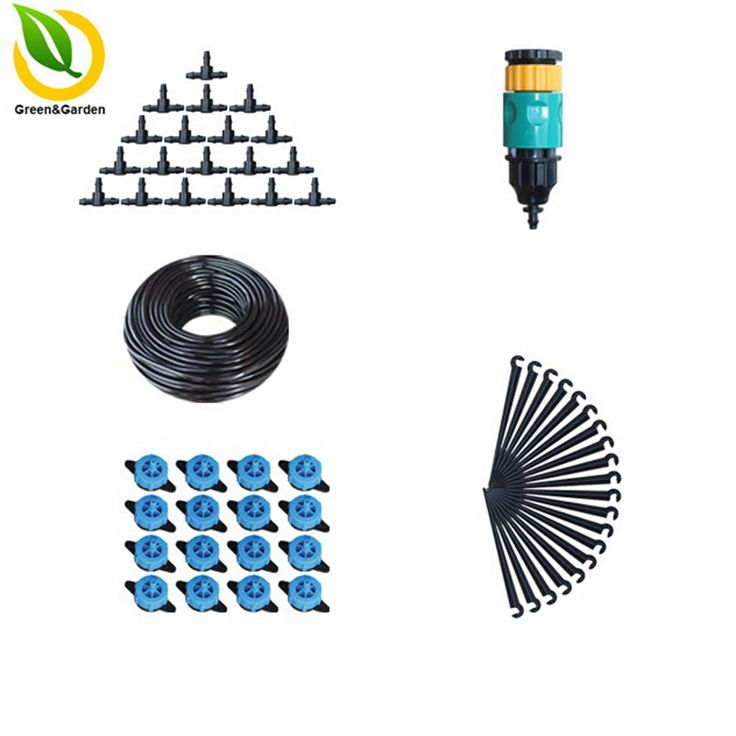 "10m 4/7"" Pressure Compensating Emitter Automatic Plant Garden Watering Kit Gardening Drip Watering Irrigation System"