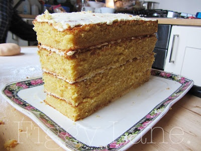 White chocolate and orange cake! Figgy Lane.