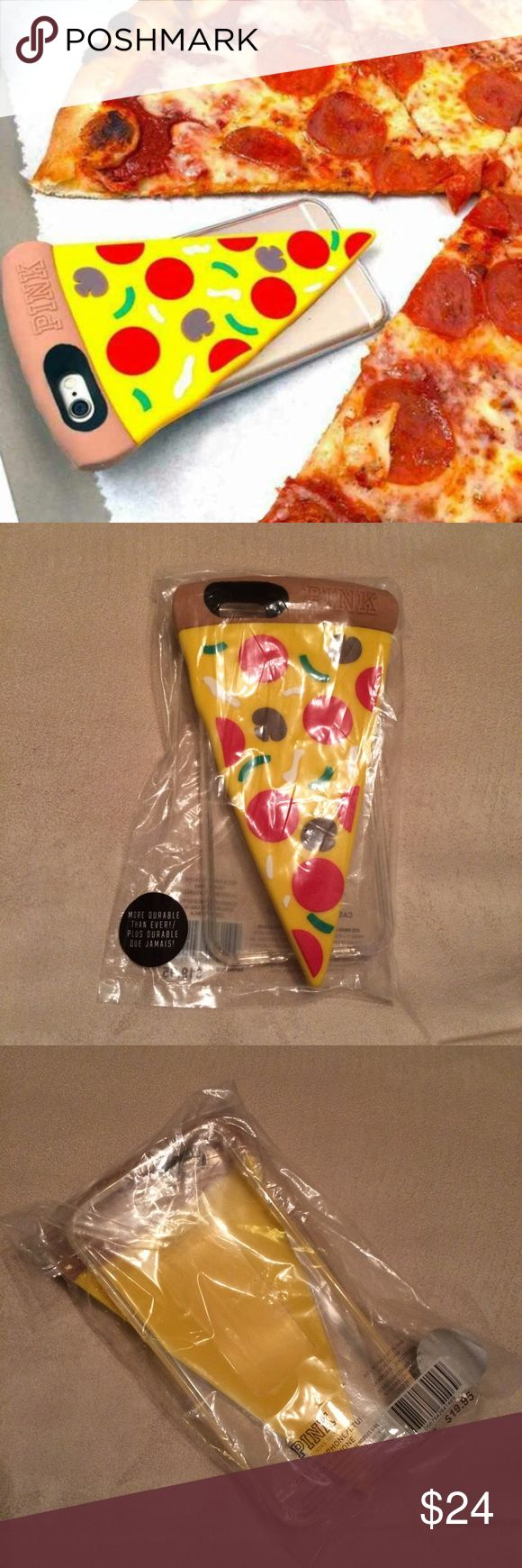 PINK pizza iphone case PINK iphone case  *NEW in case * extremely rare /limited qty * IPhone 6/6S  * PINK nation #PINK nation phone case # PINK phone case #PINK pizza phone case #pizza phone case, mirror selfie  PRICE is pretty firm PINK Victoria's Secret Other
