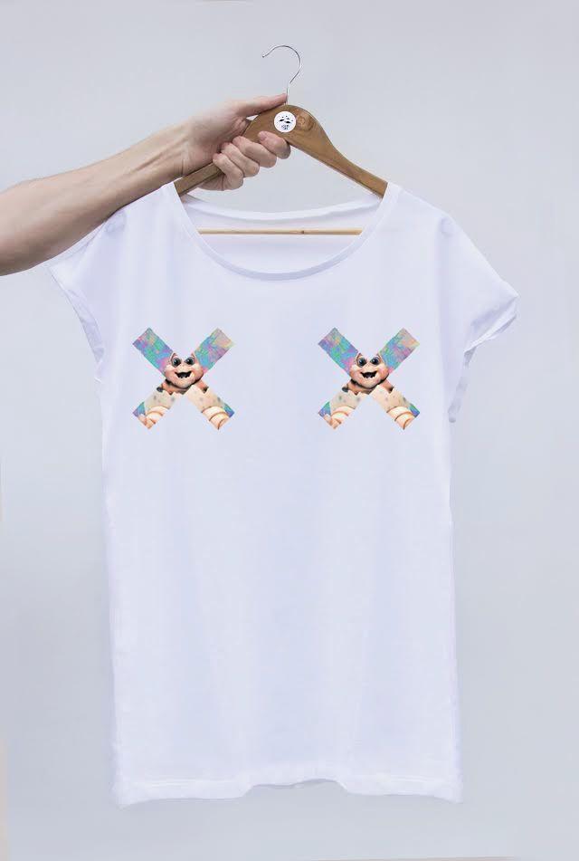 Camiseta chica de manga RAGLAN. CARACTERISTICAS: Camiseta de chica. Punto liso. Dobladillos en manga. Cuello redondo amplio. 100% algodón. MEDIDAS ...