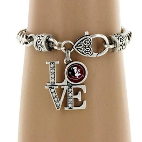 t shirt lol I Love FSU Florida State University Seminoles Silver Charm Bracelet USA Seller   Florida State University, Silver Charms and Charm Bracelets