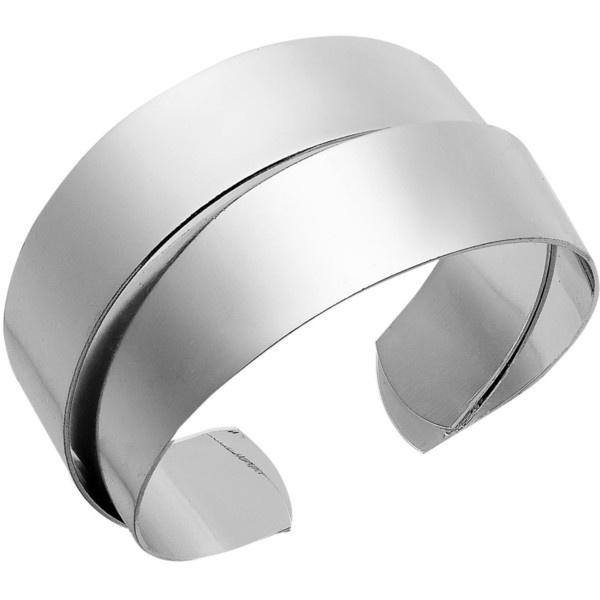 Sequin Bracelet, Silver Tone Cuff Bracelet ($28) ❤ liked on Polyvore