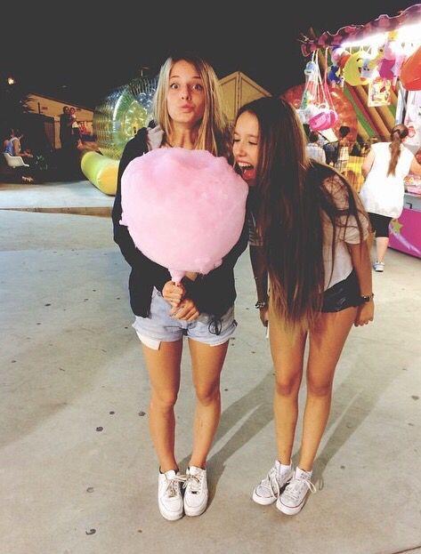 #amigas #algodon-de-azucar #feria