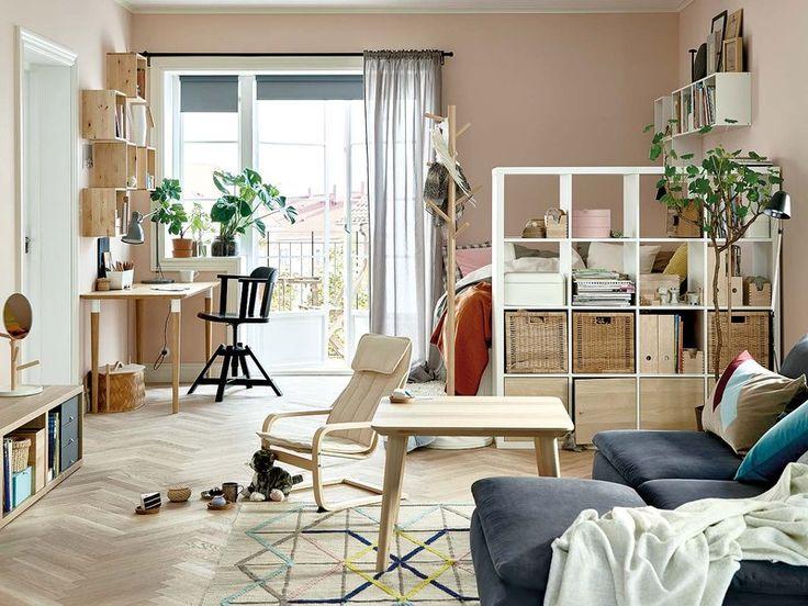 Descubre c mo unir ambientes separar integrar - Integrar escritorio en salon ...