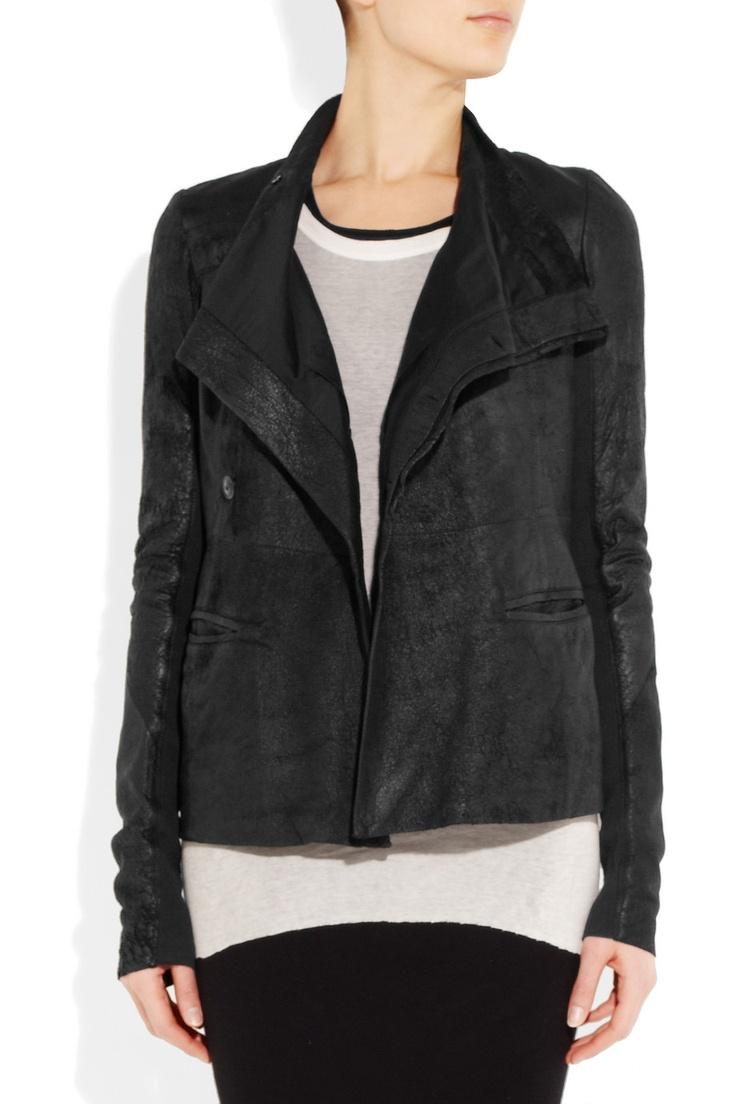 Rick Owens Distressed leather jacket NET-A-PORTER.COM