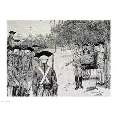 I only Regret that I have but One Life to Lose for My Country Canvas Art - Howard Pyle (36 x 24)