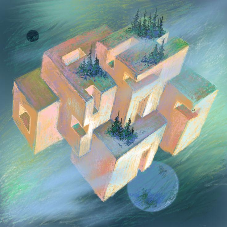 """""""Habitat #3"""" Digital painting on iPad."""