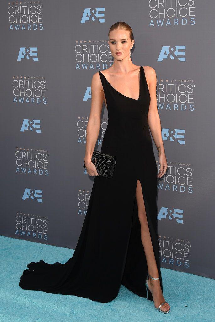 Rosie Huntington-Whiteley in Saint Laurent @ The 2016 Critics' Choice Awards | Popsugar