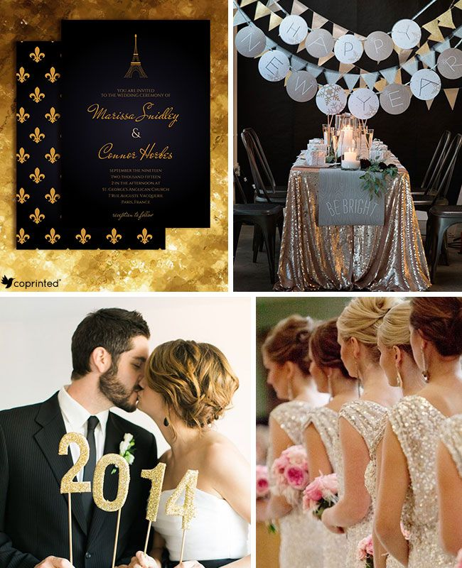New Years Eve Wedding Inspiration Board