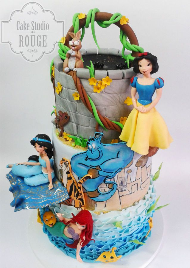 Best Cakes Princess Images On Pinterest Biscuits - Disney birthday cake ideas