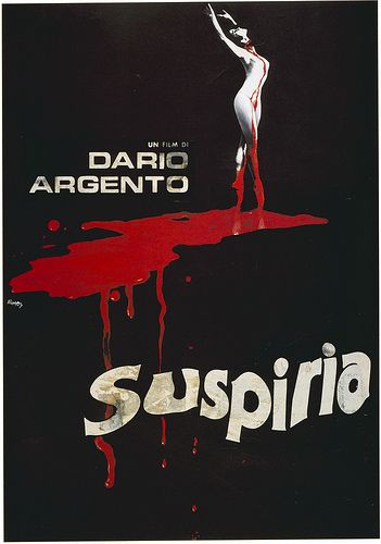 Suspiria - Be warned, it's slightly gory, but it is a great old school horror movie. Besides, it has probably THE best soundtrack in history.