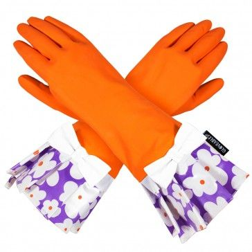 ORANGE is the new BLACK! Gloveables Cleaning gloves give cleaning new meaning!  Gloveables are the perfect way to protect your hands while still being fashionable. They make even the most boring job fun! Gloveables latex dishwashing gloves are ideal for cleaning, dishwashing, gardening, washing the car and anything else that could spoil your manicure. If you care about your beautiful hands you will want Gloveables Rubber Gloves.