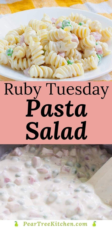 Copycat ruby tuesday pasta salad ranch pasta salad