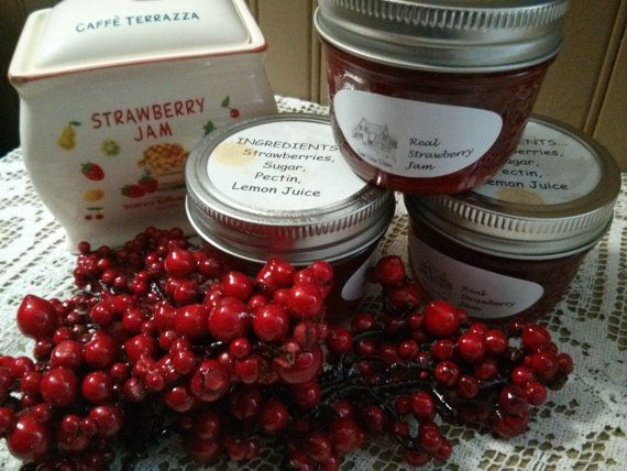 Real Strawberry Jam by sweetpeaspantry on Etsy, $4.00