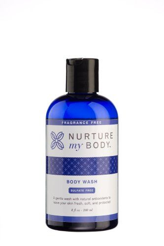 Nurture My Body Fragrance Free Organic Body Wash  SLS Free  For Sensitive Skin  8 fl oz * Visit the image link more details.
