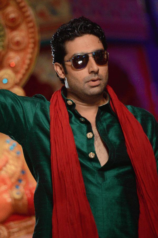 """Abhishek Bachchan in """"Bol Bachchan"""", courtesy of Amitabh Bachchan"""