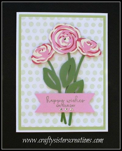 Happy Wishes On Your Day Car: Close To My Heart Flower Market Roses.