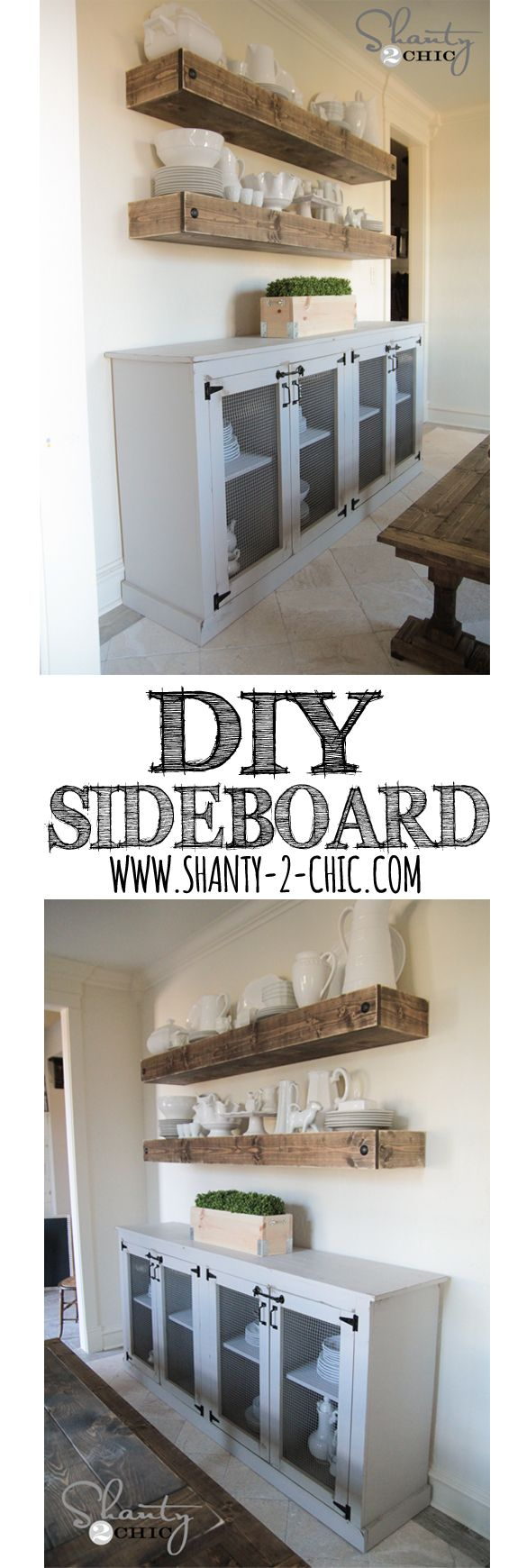 love this diy farmhouse sideboard free plans and tutorial. Black Bedroom Furniture Sets. Home Design Ideas