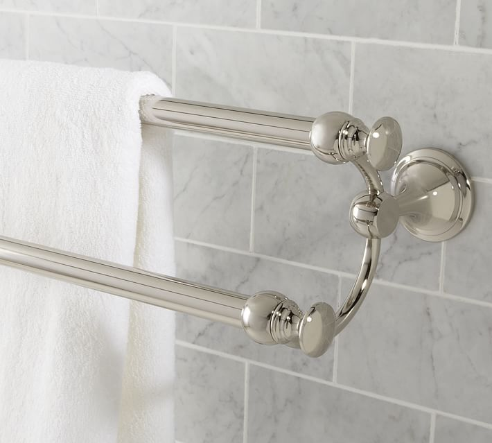 Mercer Double Towel Bar 24 Antique Bronze Finish At Pottery Barn Bath Fixtures Faucets Bse Pinterest Bathroom Towels And