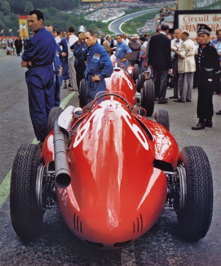 1954 Belgian GP, Froilan Gonzalez's Ferrari  Those where the days!!!