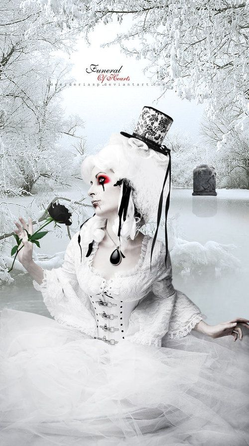 White The white queen. Is cruel, sickly sweet or violently evil. Has 2 white. Foxes that follow her. Whole army is white.