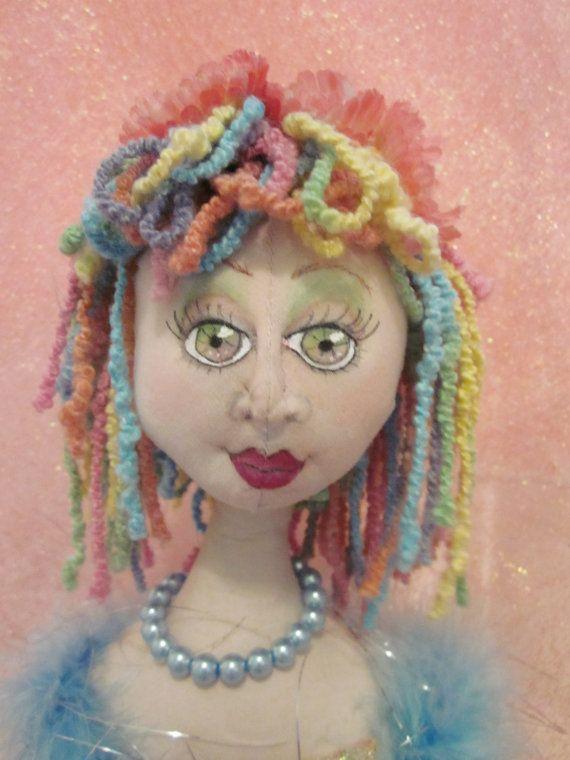 Candy A Cloth Art Doll Ready To Ship by MyGracieMaeDesigns, $175.00