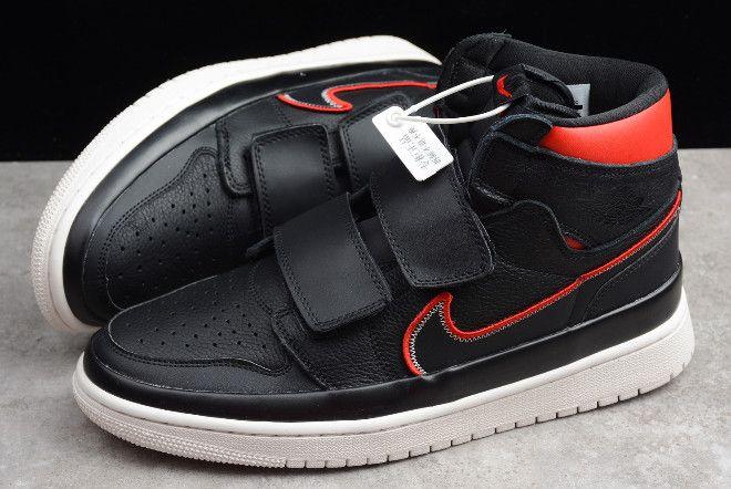 Latest Air Jordan 1 Retro High Double Strap Black Red AQ7924