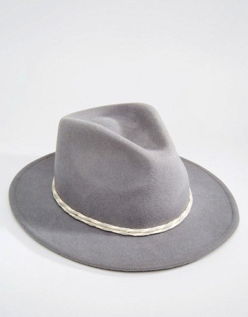 Brixton | Brixton Fedora with Contrast Twisted Cotton Band