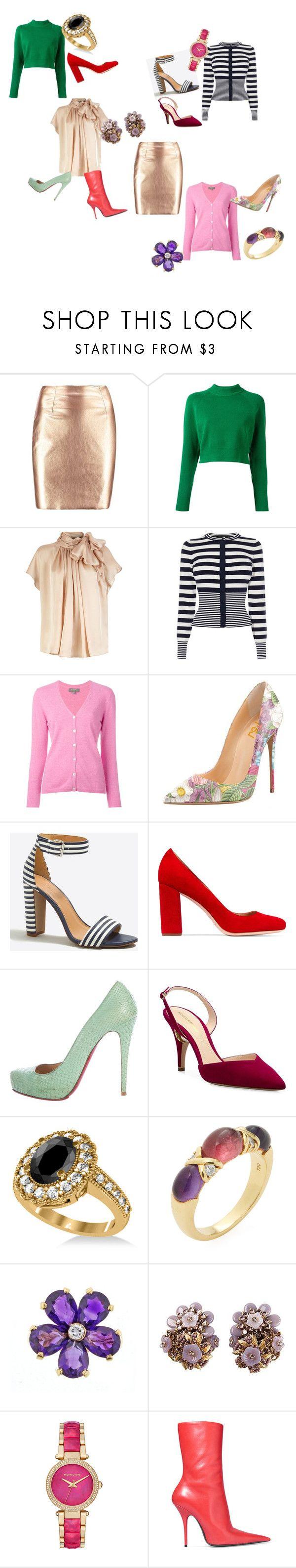 """gonna"" by anna-esenova on Polyvore featuring moda, DKNY, Karen Millen, N.Peal, J.Crew, Loeffler Randall, Christian Louboutin, Nicholas Kirkwood, Allurez e Tiffany & Co."