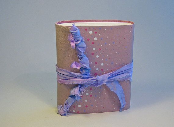 Pink Leather Journal 3rd Anniversary Gift Leather by StudioHen