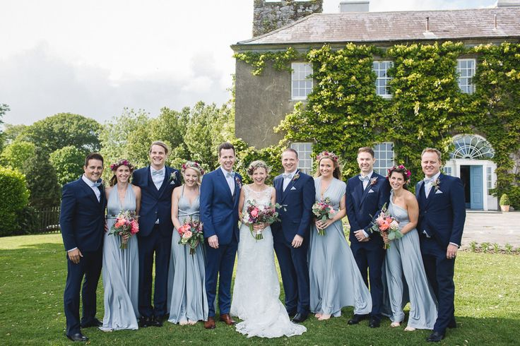 Ballymaloe House wedding venue Ireland for a rustic wedding with a Verina Marie Maggie Sottero bridal gown, Twobirds Bridesmaid dresses by Kate Gray Photography