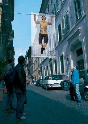 Guerilla Advertising for Gym Photo, Leo Burnett
