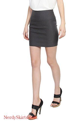 ca6277eb2 TheMogan Women's Stretch Woven High Waist Short Mini Skirt W Bodycon Pencil  Cut