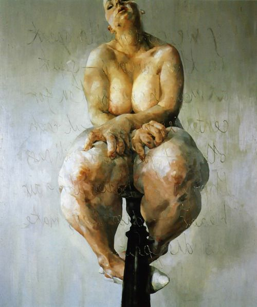 More Jenny Saville - the juxtaposition of beauty.