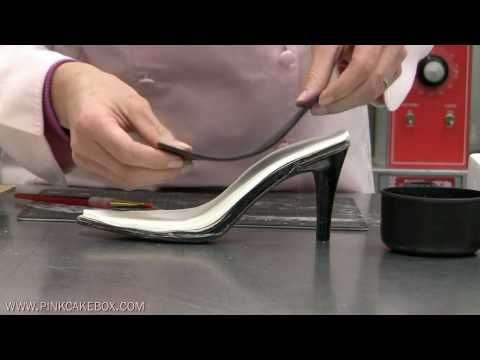Fancy Shoe & Shoebox Cake Video Tutorial from Pink Cake Box