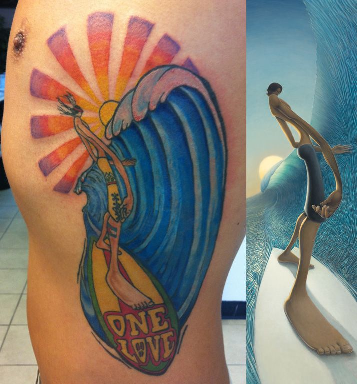 surfing tattoos | Surf Tattoo Images