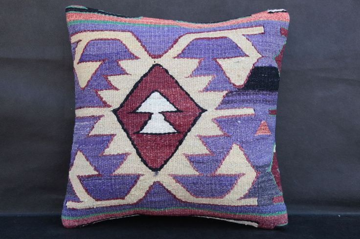 purple Pillow,Kilim Pillow,white Cushion Cover,Couch Pillow,sofa pillow,pillows #Turkish