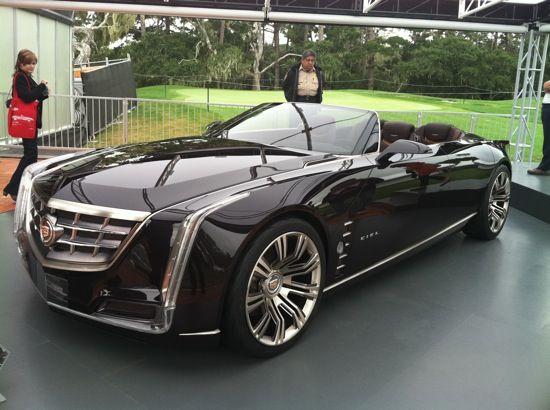 Black Cadillac Ciel.... Seems like the car cruella deville would drive