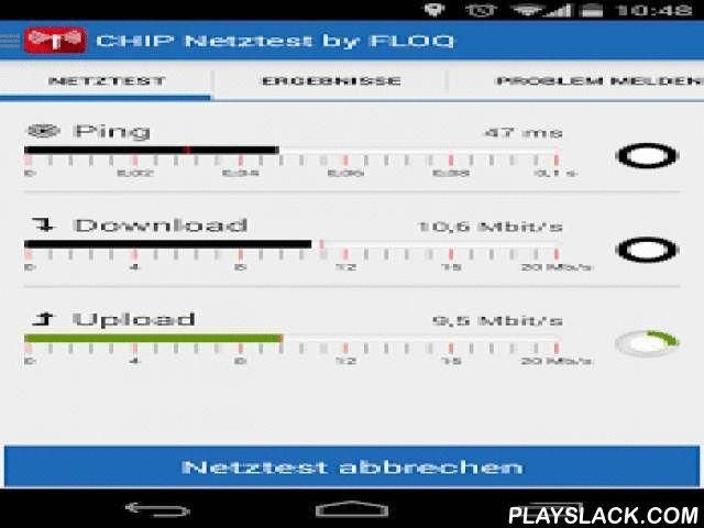 CHIP Netztest  Android App - playslack.com , *Mit dem CHIP-Netztest messen und bewerten Sie die Geschwindigkeit und Qualität Ihrer Datenverbindung unterwegs und zu Hause.*Erfahren Sie, wie gut Ihr Funknetz ist und finden und dokumentieren Sie Schwachstellen. So helfen Sie uns bei der Bewertung und Berichterstattung über die Qualität der Mobilfunknetze.*Das Besondere am CHIP-Netztest*Neben der Messung von Up- und Download-Speed und der durchs Netz entstehenden Verzögerungszeit, können Sie…